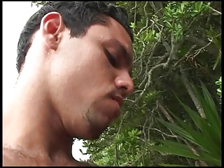 Beautiful young brazilian girl loves wild outdoor anal fuck in the jungle