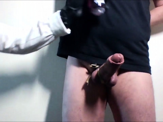 Cock ball torture sesh with hj and pop-shot by domme