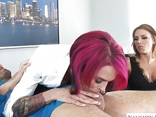 2 insane cougars with tats love an glamour FFM three-way