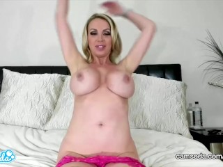 CamSoda - Nikki Benz handsome cougar jerks and demonstrates off her giant bra-stuffers|1::giant bra-stuffers,25::Masturbation,26::Blonde,38::HD