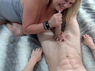 Huge-titted swinger Heather luvs deep-throating a rock-hard rod