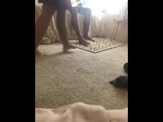 Wife's sister fucked wife's in kitchen she wanted to smoke