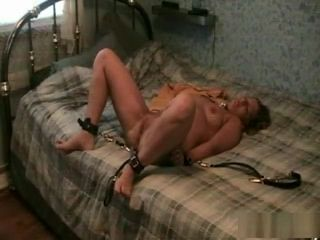 Wifey gets strapped up and plowed rock-hard