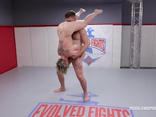 Buxom Dee Williams mingled grappling struggle gags on penis of wank Friday