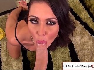 FirstClassPOV - Jessica Jaymes deep-throating a monster shaft, gigantic milk cans &amp_ gigantic backside