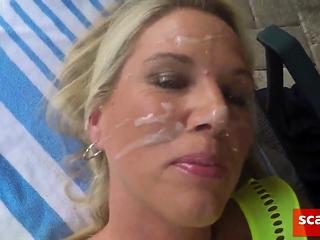 Hamster member gives girly a facial cumshot