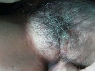 I enjoy to finger pound my wife's ginormous unshaved cunt and her puss is ginormous really