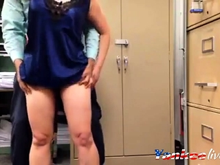 Taunting her manager in satin glide 2