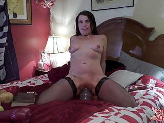 MY wifey likes slamming the BIGEST fuck stick in her gapping vagina
