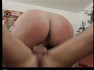 Mature chubby slut gets drilled in the living room