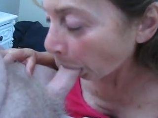 Grandmother enjoy hard-onOlder fledgling enjoys hard-on