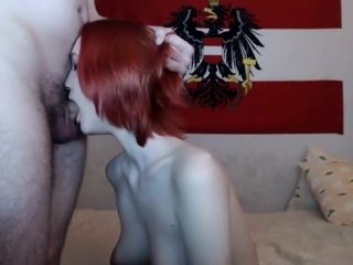 Ginger-haired mature stunner with phat hooters humping