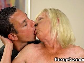 Grandma fumbles phat boobies