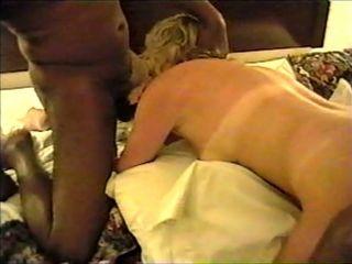 Blonde4ebonys in hotel tearing up and inhaling 2 ebony guys