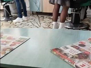 Romanian Hairdresser eavesdrop crestfallen botheration MILF