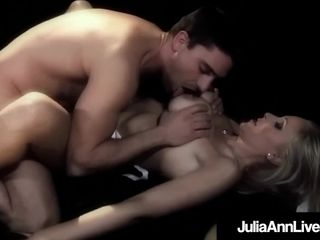 Big-boobed Broadway cougar Julia Ann Is caboose pulverized On Stage!