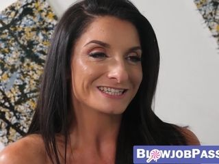 Sumptuous cougar Silvia Saige point of view inhaling son-in-law man-meat