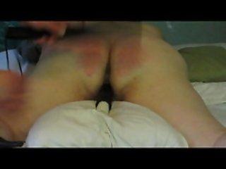 Paddled Red Ass Naughty BBW Slut