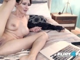 """""""Mika Cox on Flirt4Free - beautiful milf honey w humungous orbs Makes Her cooter Squirt"""""""