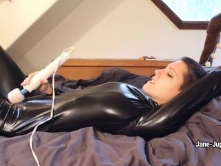 Jane Jupiter - Paint It Black- latex getting off