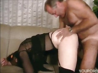 handsome older daddy in straight group sex with younger