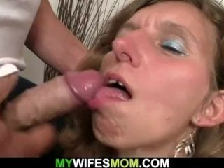 Wifey sees her aged mother rails husband's pecker