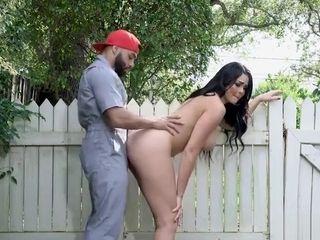 BangBrosClips - Skyla Novea - huge-chested mansion wifey penetrates The Gardener
