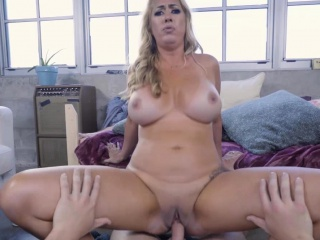 Janna Hicks deepthroating her stepsons dick