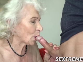Big-boobed grandma penetrated in jiggly cunt and nutted on sweet boobs