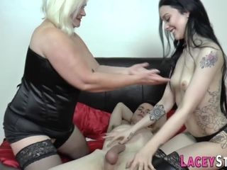 British grandmother in 3some gets porked