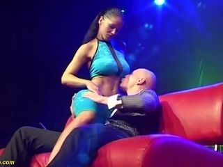 extreme big cock deepthroat on public stage