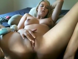 Light-haired first-timer wifey frolicking and wanking
