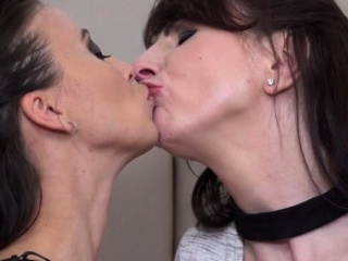 Girly-girl housewives Toni Lace and Vickie enjoy fooling around