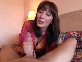 Expert mummy bj's youthfull fuckpole and rails it in point of view