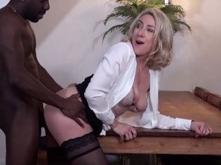Gigantic booty mature chick rump pummeled by a gigantic black cock multiracial