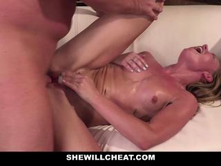 SheWillCheat - Squirty wifey Gets Slayed By Internet boy