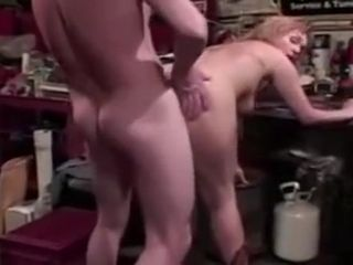 Mature girl porks in the garage with youthfull stud