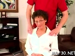 Unrighteous dark haired ultra-cutie with humungous all-natural knockers gets screwed