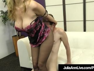 Big-chested light-haired cougar Julia Ann sole bangs A rock hard marionette pink cigar!