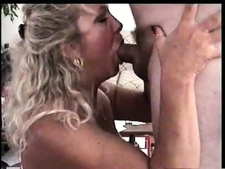 Huge-boobed mature first-timer gives a supreme deep throat
