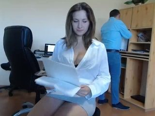 Assistant entices Her manager At Work Live