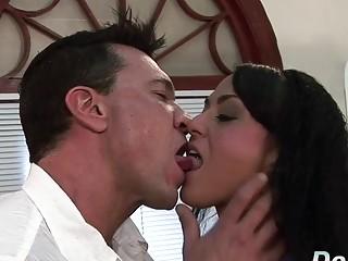 Hotwifey smirking While wifey Mahina Zaltana Gets Her butt without mercy slammed