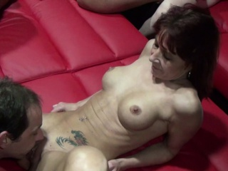 Real Gangbang in German Swinger Club Part 1
