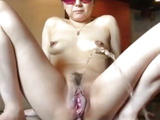 Asian first-timer cougar urinating urine