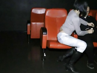 2 Horny Huge Cock Hard Fucking Wife in Porn Cinema
