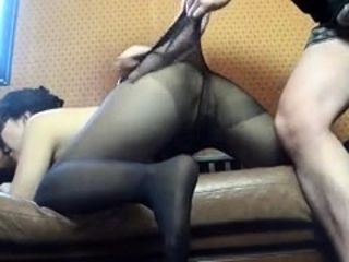 Super-steamy japanese cougar in pantyhose screwed on the bus