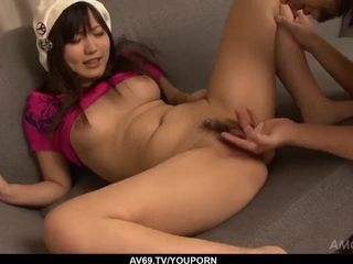 Bare chinese sure likes the yam-sized penis in her - More at 69avs.com