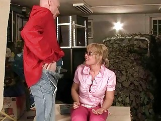 Naughty mature couple pissing and fucking