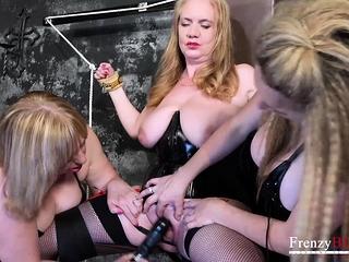 FrenzyBDSM 3 Matures sensitized restrain bondage and fucky-fucky fucktoys