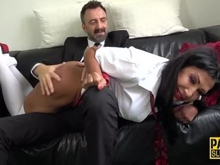 Bum fingerblasted and smacked fetish cougar